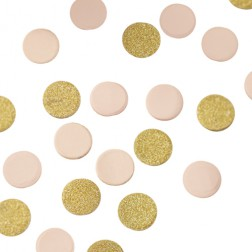 Konfetti glitter rosa gold 14g