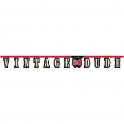 Banner 50. Geburtstag Vintage Dude