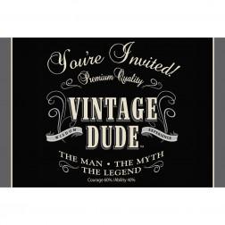 Einladungskarten Vintage Dude 8Stück