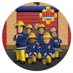 Tortenaufleger Feuerwehrmann Sam 20cm