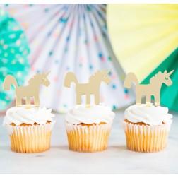 Unicorn Acrylic Cupcake Toppers 8 Stück