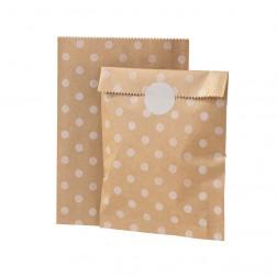 Papier Tüten mit Stickern kraft 10 Stück