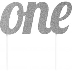 Cake Topper One silber