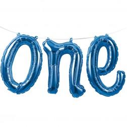 Air Folienballon one blau 1,52m