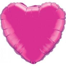 Folienballon Herz Jumbo Magenta 90cm