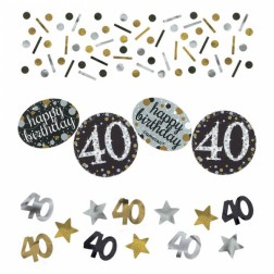 Konfetti 40 Sparkling Celebration silver gold 34g