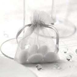 Tüten Organza Silber 10 Stück