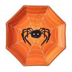 Pappteller Spooky Spider 8 Stück