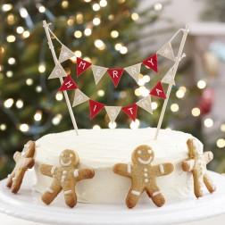 Mini Christmas Girlande für Torte