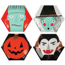 Pappteller Halloween Character 8 Stück