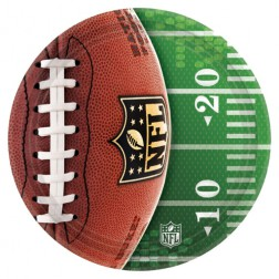 8 Pappteller NLF Super Bowl 26cm