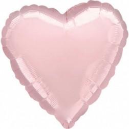 Folienballon Herz Pearl Pastel Pink 43cm