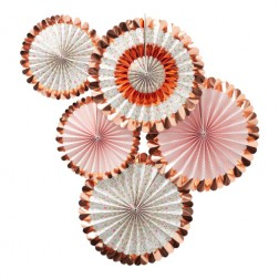 Fans Ditsy Floral Rosegold 5 Stück