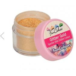 Essbare Farbpulver Sparkle Dust Glitter Gold