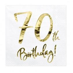 Servietten 70. Geburtstag Gold 20 Stück