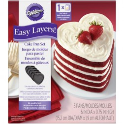 Wilton Heart Cake Pan Easy Layers 5er Set