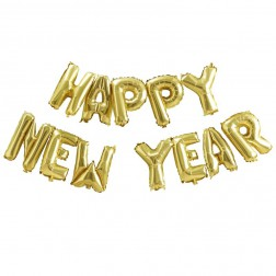Air Folienballon Happy New Year gold