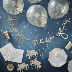 Happy New Year Partybox gold