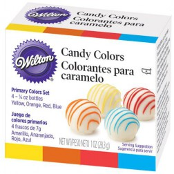 Wilton Candy Colours 4 x 7g (Oil based)