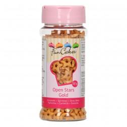 Zuckerdekor Offene Sterne Gold 55g
