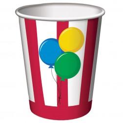 Pappbecher Luftballons Party 8Stück