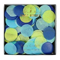 Konfetti Hellblau Gelb Blau
