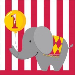 Servietten Zirkus Party 1.Geburtstag 16Stück