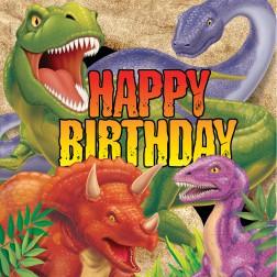 Dino Servietten Happy Birthday 16 Stück