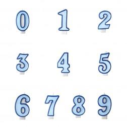 Kerzen Zahlen blau von 0 bis 9