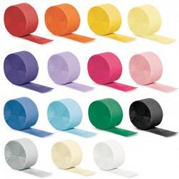 Krepprollen nach Farben 24,6m