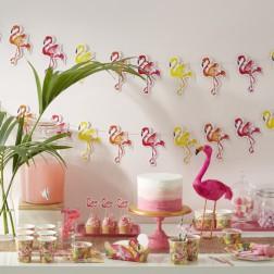 Partybox für 8 Gäste Flamingo Party