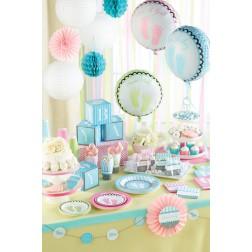 Partybox für 8 Gäste Sweet Baby Feet blau