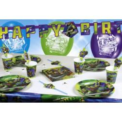Partybox für 8 Gäste Ninja Turtles