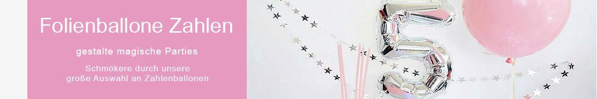 Folienballone Zahlen