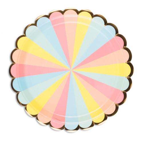 Pappteller Pastel Berlingot 8 Stück