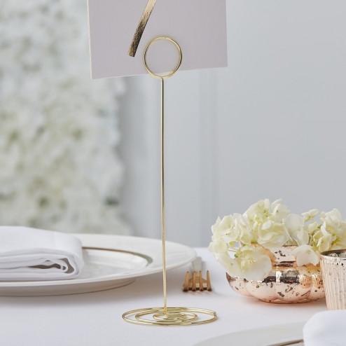 Gold Metal Table Number Holder