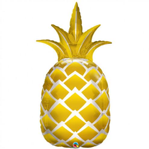 Folienballon Ananas Gold 112cm