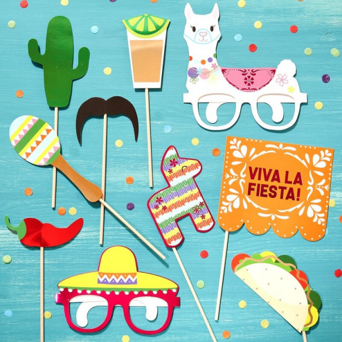Photo Booth Mexican Party 10 Stück