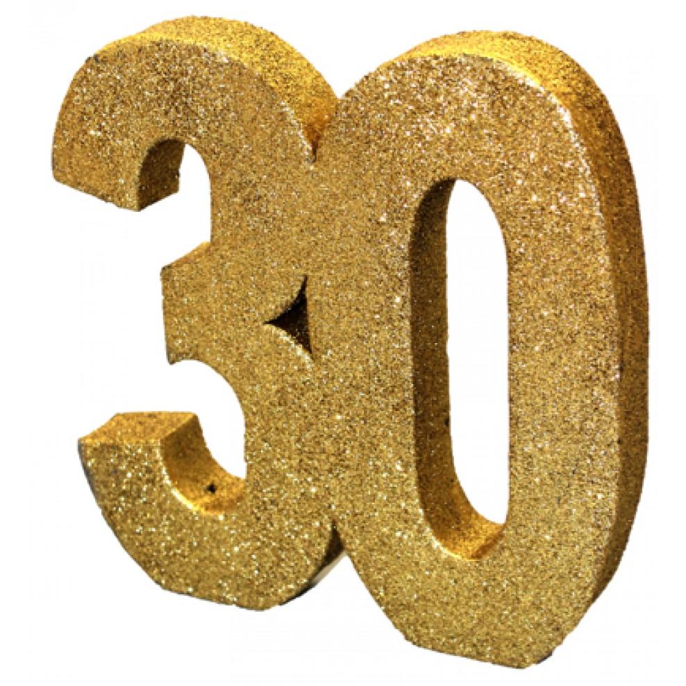 Tisch Deko 30 Geburtstag Gold