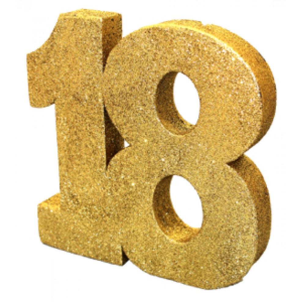 Tisch Deko 18 Geburtstag Gold