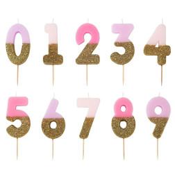 Kerzen We Heart Birthday Rosa mix 0 bis 9