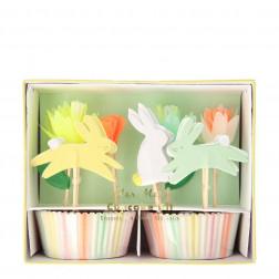 Floral Bunny Cupcake Kit