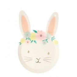 Pappteller Bunny Floral 8 Stück