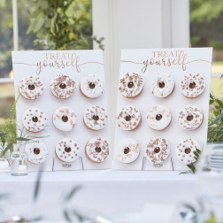 Rose Gold Treat Yourself Double Donut Wall Holders