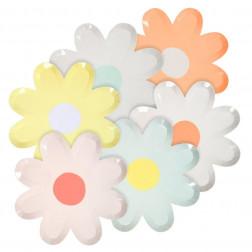 Pappteller Blume 12 Stück