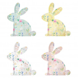 Pappteller Bunny Hasse 12 Stück
