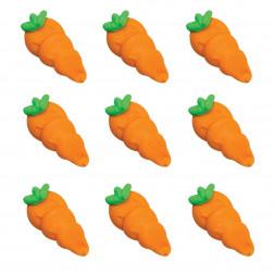 Zuckerdekor Karotten 9 Stück