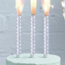 Cake Fountain 3er Set silber