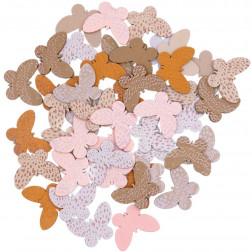 Holzstreu Schmetterlinge 48 Stück