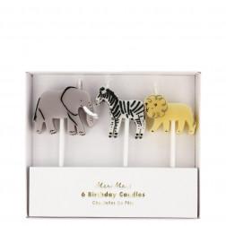 Kerzen Safari Animal 6 Stück